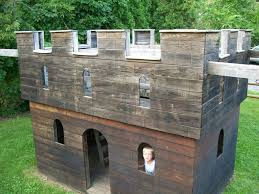 Forget The Couch Forts. I Played In This In The Backyard As A Kid ... A Diy Playhouse Looks Impressive With Fake Stone Exterior Paneling Build A Beautiful Playhouse Hgtv Building Our Backyard Castle Wood Naturally Emily Henderson Best Modern Ideas On Pinterest Kids Outdoor Backyard Castle Plans Plans Idea Forget The Couch Forts I Played In This As Kid Playhouses Playsets Swing Sets The Home Depot Pirate Ship Kits With Garden Delightful Picture Of Kid Playroom And Clubhouse Fort No Adults Allowed