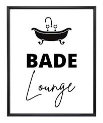 kunstdruck din a4 spruch bade lounge badezimmer