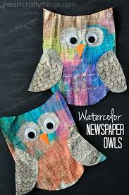 This Colorful Newspaper Owl Craft For Kids Is Super Bright And Beautiful Makes A Great Earth Day Since It Made Out Of