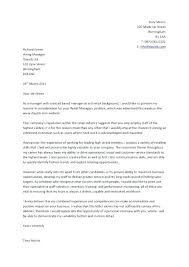 Sample Cover Letters For Management Positions What Is A Letter Resume Written