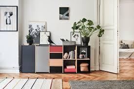 fünffarbiges sideboard mycs modern wohnzimmer