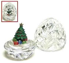 Crystal Christmas Tree Topper World Within Egg Box With Boxed