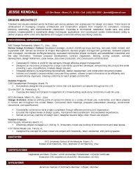 Architecture Resume Senior Architect Example Qualifications Inside Sample Job Objective