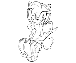Sonic Generations Amy Rose Character Coloring Pages