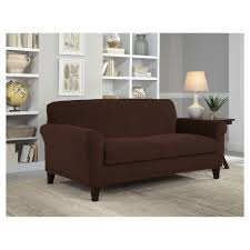 Chocolate Brown Stretch Grid Loveseat Slipcover Serta Distributorjerseybolathaicom Jcpenney Slipcovers For Sectional Couch The Pottery Barn Remarkable Deal On Sure Fit Ballad Bouquet 1pc Shrd Sofa Ding Chair Covers Ideas Home Design Stretch Pique Slipcover Great Side Fniture Oversized Slipcovers To Keep Your Give Makeover With Recliner Armless For Room Unique Big Lots Best Fice Under 100 Jcpenney Patio Elegant Living