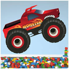 100 Red Monster Truck Amazoncom Fun Kids Color Wall Sticker Transport