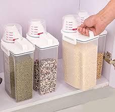 boite de rangement cuisine sunwon 2 kg portable en plastique boîte de rangement farine
