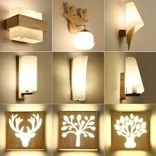 led massivholz wandleuchte schlafzimmer wandleuchte kreative