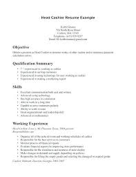 Examples Of Resumes For Cashiers Cashier Resume Sample Retail