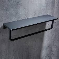 wbxyzyc badezimmer regal schwarz mit bar fach raum aluminium