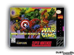 Marvel Super Heroes: War Of The Gems SNES Super Nintendo Game Case ...