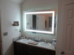 lights wall mounted lighted makeup mirror bronze mount