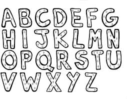 Printable Alphabet Coloring Digital Art Gallery Pages