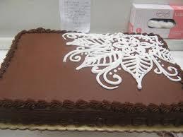 like the swirly design makes sheet cake not so tacky