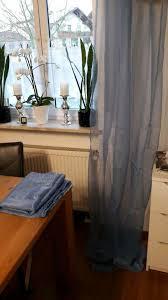 2x vorhang gardine blau ikea sarita