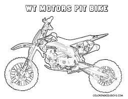 WT Pit Bike Picture Coloring For Kids At YesColoring