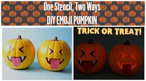 Vampire Pumpkin Designs by Diy Halloween Stenciled Vampire Emoji Pumpkin Youtube