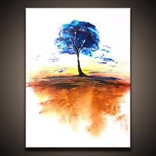 Easy Landscape Paintings With Trees How To Paint Abstract Art Painting Of A Tree