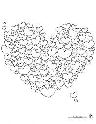 Valentines Hearts Coloring Pages Page Heart For Adults Medium Size