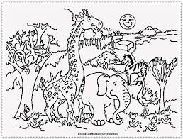 Awesome Zoo Animals Coloring Pages 83 In Free Colouring With