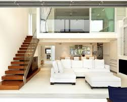 living room modern beach house idea with cozy white sectional sofa
