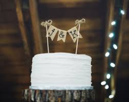 Nice Ideas Wedding Cake Toppers Rustic Astounding Design Initials Topper Custom