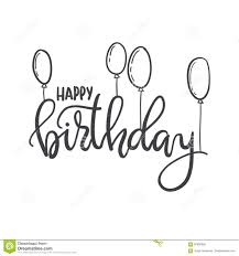 Happy Birthday Hand Lettering Typography Template For Posters