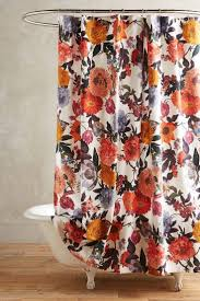 recessed shower track floral curtains bathroom hanging curtain