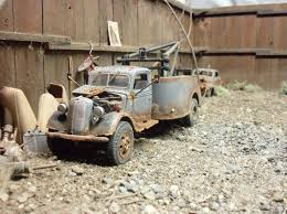 100 37 Ford Truck Revell 19 Ford Wrecker Diorama Junk Junkyard Weathered 1