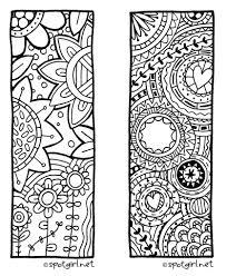 Zentangle Bookmark Printable From Spotgirl Hotcakesblogspot