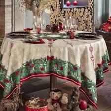 nappe de table coton de noël vert nappe jour de fête