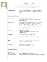 Resume Template For Students With No Experience Cv Waitress Example Restaurant Waiter