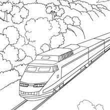 High Speed Rail Travelling In A Mountain Landscape