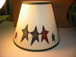 Large Punched Tin Lamp Shades by Navy Red And Green Primitive Stars Natural Lamp Shade Hand Made