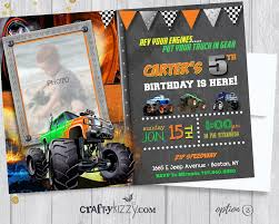 Monster Truck Birthday Invitation - Off-Roading Birthday Party ... Fire Truck Birthday Party Mommyapolis Little Blue Gastrosenses Stay At Homeista Cstruction A How To Ay Mama Absolutely Fabulous Affairs 3rd Its Fun 4 Me Monster 5th Id Mommy Diy Car And Truck Birthday Party Ideas Decorating Of Ideas Easy Cake Waffle Cakes Can Cater Your Or Special Event Babadoo Designs 3 Monkeys A Garbage Truck Birthday Party