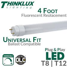 dimmable t8 ballast led replacement for t12 fluorescent