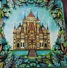 Castle Enchanted Forest Castelo Floresta Encantada Johanna Basford Adult ColoringColoring PagesColoring BooksFantasy