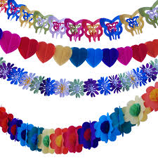 Colorful Paper Garland Wedding Marriage Room Decoration Ideas Birthday Party Supplies Decorative Flowers Ball In Masks From Home