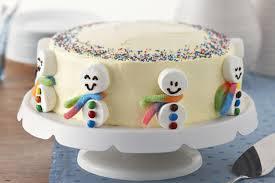 gâteau bonhommes de neige kraft canada