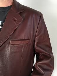 latini mens brown leather jacket made in italy coat l 54 44 usa