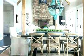 Turquoise Beaded Chandelier Transitional Dining Room Dazzling Blue