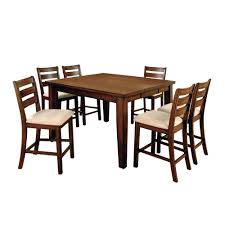 Sun & Pine 7pc Bold And Sturdy Counter Dining Table Set Wood ... Piece Ding Set Light Chairs Red And Table Wicker Rooms Cream Upholstered Padded Kitchen With Amazoncom Solid Oak Room Of 2 Sturdy 7 Woodespresso Fniture What Is The Best Place To Buy Cheap But Sturdy Fniture Wooden Kids And Eertainment Chairs White Mcmola Case 50kitchen Side Better Homes Gardens Maddox Crossing Chair Brown Details About Of Wood Black Traditional Wing Back Ash Barley Velvet Fabric Parson Room Table 4 In Ch5 4wl Connahs Quay For