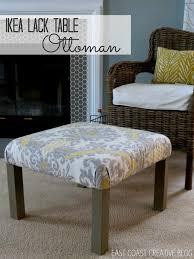 Ikea Lack Sofa Table by Ikea Hack Ottoman Tutorial Infarrantly Creative