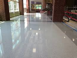 Modern Terrazzo Floors Elegant Flooring Awesome Finished Epoxy At Oak Grove High School Than Contemporary Floor