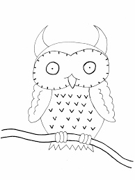 Birds Owl5 Animals Coloring Pages