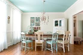dinning rooms white shabby chic dining room with modern hutch
