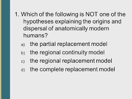 the origin and dispersal of modern humans ppt