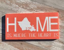 HOME Is Where The Heart Beachy Custom Hawaii Oahu Rustic