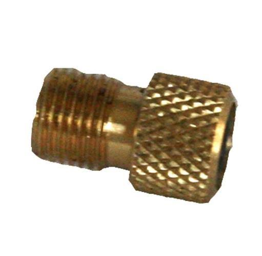 Kool Stop Brass Presta To Schrader Valve Adapter with O-Ring
