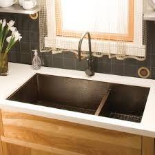 copper drop in kitchen sinks you ll love wayfair